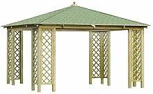 GC Rimini Holzpavillon mit Dachschindeln in 3