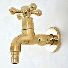 Gcbpwh Wasserhahn Poliert Gold Messing Outdoor