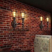 GCC Wand Lampe Schmiedeeiserne Pfeife Design