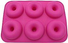 GCCI Donutform 6 Hohlraum Silikon Weiche Donut