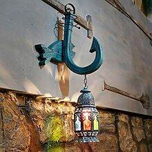 GCCI Home Retro Wandleuchte Mediterran Kreativ Bar