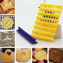 GCCI Kuchen/Zuckerpaste Alphabet Buchstaben Kekse
