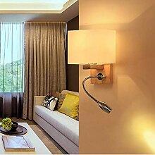 GCCI Persönlichkeit Nachttischlampen Nordic Wood
