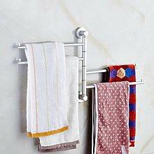 GCCRR Towel Holders/Towel Stands/Towel Rail Raum Aluminium Activity Four Handtuchhalter Badezimmer Hardware Regal Anhänger Wandregal mit Haken