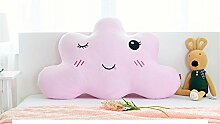 GCR® Kissen Minimalist modernes Haus abwaschbar Flanell SuperMeng Wolken Kind Prinzessin-Bett-Zimmer großes Rückenpolster , pink , long 180cm