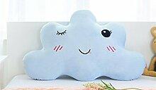 GCR® Kissen Minimalist modernes Haus abwaschbar Flanell SuperMeng Wolken Kind Prinzessin-Bett-Zimmer großes Rückenpolster , blue , long 180cm