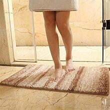 GCR® Moderne Flur Teppiche Dicke Türmatten Balkon Anti-Rutsch-Teppich Küche Badezimmer Matten Home Room Doormat Für Eingangstür , Coffee , 45*70Cm