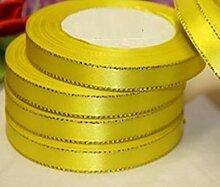 GCS Satinband, goldfarbene Kanten, 20 mm, 1 x 23 m