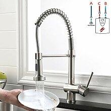GD Niederdruck Wasserhahn Küche Gebürsteter