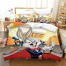 GD-SJK Bettwaren-Sets Für Kinder Bugs Bunny,3D