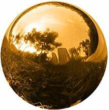 GDglobal Edelstahl Gartenkugel, Goldener