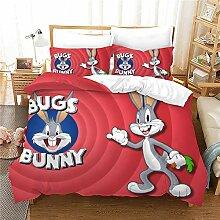 GDGM Bugs Bunny Bettwaren-Sets Für Kinder,3D