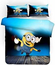 GDGM Minions Bettbezug,Bettwaren-Sets Für Kinder