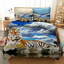 GDGM Tiger Bettbezug,Bettwaren-Sets Für