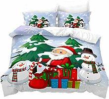 GDGM Weihnachtsmann Bettbezug,Bettwaren-Sets Für