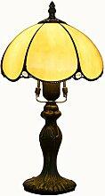 GDLight Tiffany Stil Tischlampe Vintage Pastoralen