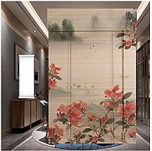 GDMING-Bambusrollo Bambusvorhang Klassik Blumen