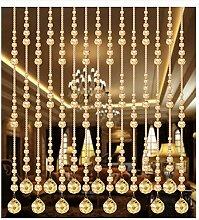 GDMING Kristall Perlenvorhang Türvorhang Zum