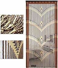 GDMING- Perlenvorhang Türvorhang Natürliche Holz
