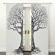 GDONLINE Mandala Baum des Lebens Baumwolle Fenster