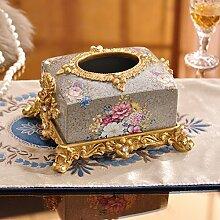 GDS Continental dekorativen Harz Tissue Box Dekoration Ideen Home Craft American Village