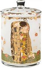 Gebäckdose, Keksdose Gustav Klimt DER KUSS H. 23cm D. 15cm Goebel Porzellan (89,00 EUR / Stück)