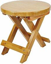 Geboor Bamboo Folding Tritthocker Schemel Wasserdichte Stuhl Bamboo Round Hocker für Outdoor und Indoor