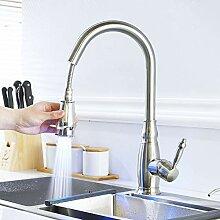 Gebürstet Küchenarmatur Ziehen Kalten Wasserhahn