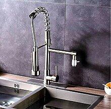 Gebürstetes Nickel Deck montiert Küchenarmatur