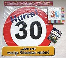 Geburtstag 30 dreißig Jahre feiern 3er Dekoset