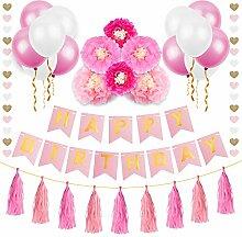 Geburtstag Deko | MOZOOSON Party Deko Geburtstag