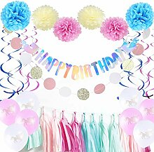 Geburtstag Deko Rosa Bunt Happy Birthday Girlande