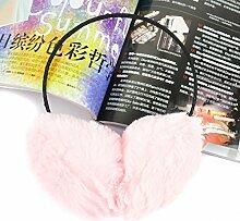 Geburtstag Festival Valentinstag Geschenk Weihnachten Frauen Herbst und Winter Damen nett warm Schwarz/Weiß/Rosa/Grau kapselgehörschützer Kapselgehörschützer Ohrringe Rosa se der Tagess