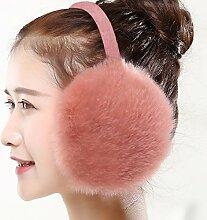 Geburtstag Festival Valentinstag Geschenk Weihnachten Herbst und Winter Fashion Männer und Frauen Ohrenschützer gepolsterte warmen Montagedeckung Damen auf der Haut tragen rosa s e