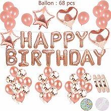 Geburtstags Deko Rose Gold:Aufblasbar Helium