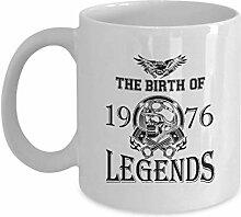 Geburtstags-Kaffeetasse - die Geburt von 1976