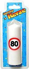 Geburtstags Kerze zum 80. Geburtstag