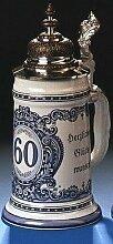 Geburtstags-Krug 60 Jahre Bier-seidel 0,5 L