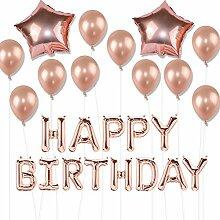 Geburtstags-Party-Ballon-Set, Rosegold Luftballons
