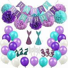 Geburtstagsdeko für Mädchen, Lila Prinzessin