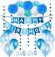 Geburtstagsdeko Jungen Blau, Kindergeburtstag Deko