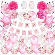 Geburtstagsdeko Mädchen Happy Birthday Girlande