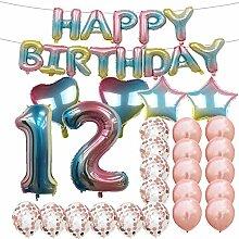 Geburtstagsdekoration zum 12. Geburtstag,