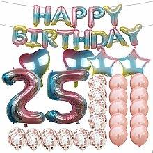 Geburtstagsdekoration zum 25. Geburtstag,