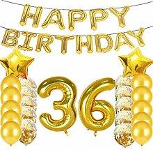 Geburtstagsdekoration zum 36. Geburtstag,
