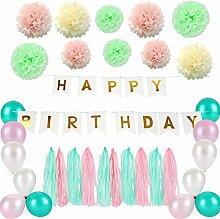 Geburtstagsfeier Dekorationen Happy Birthday