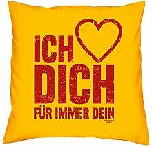 Geburtstagsgeschenk Geschenke für Frauen Männer Ich liebe Dich Kopfkissen Sofakissen Valentinstag Muttertag Vatertag Sitzkissen Farbe:gelb