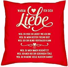 Geburtstagsgeschenk Geschenke für Frauen Männer Warum ich Dich liebe Kopfkissen Sofakissen Valentinstag Muttertag Vatertag Sitzkissen Farbe:ro