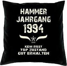 Geburtstagsgeschenk Kopfkissen Sofakissen Hammer Jahrgang 1994 Zum 23. Geburtstag Geschenkidee Deko Zierkissen Größe 40 X 40 cm Farbe:schwarz