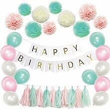 Geburtstagsparty-Dekorationen Happy Birthday